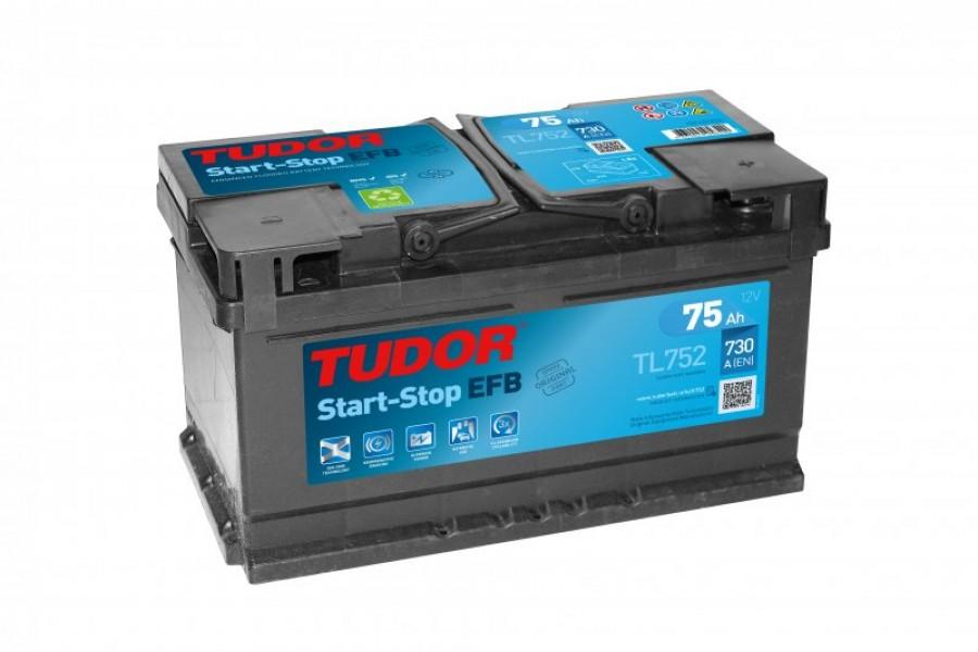 Аккумулятор TUDOR Start-Stop EFB TL752 75 A/h 730A R+