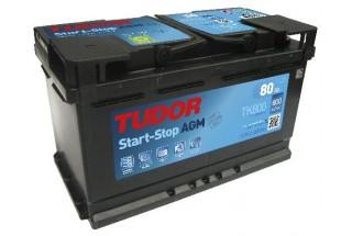Аккумулятор TUDOR Start-Stop AGM TK800 80  A/h 800A R+