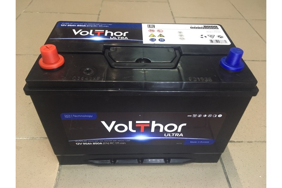 Аккумулятор VoltThor 95  A/h L+ 850A (EN)