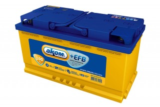 Аккумулятор АКОМ EFB 6СТ-100 Евро
