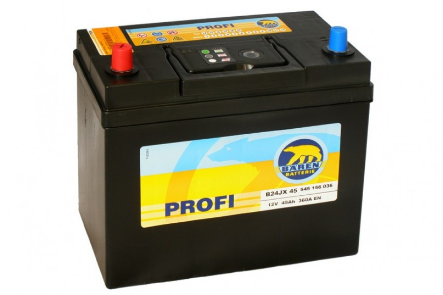 Аккумулятор BAREN Profi 45 a/h JL 360A (EN)
