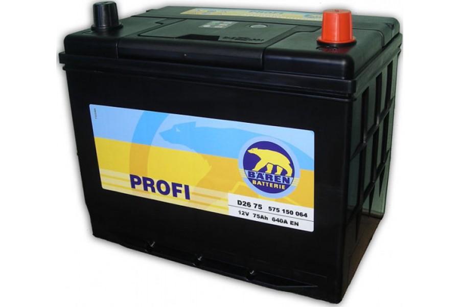 Аккумулятор Baren Profi 75  A/h 570113 640A (EN)