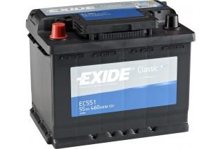 Аккумулятор Exide Classic EC551 (55  A/h), 460A R+