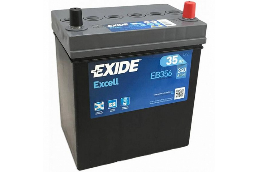 Аккумулятор Exide Excell EB356 (35  A/h), 240A R+