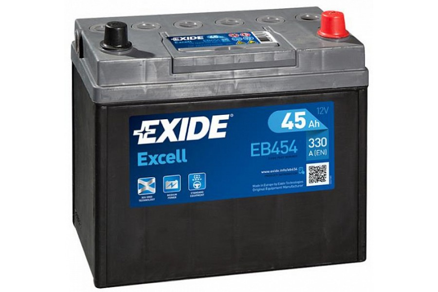 Аккумулятор Exide Excell EB454 (45  A/h), 330A R+