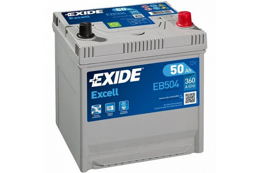 Аккумулятор Exide Excell EB504 (50  A/h), 360A R+