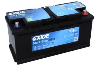Аккумулятор Exide Start-Stop AGM EK1050 (105 A/h) 950A R+
