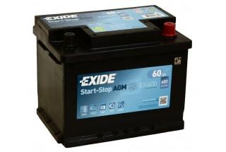 Аккумулятор Exide Start-Stop AGM EK600 (60 A/h), 680A R+