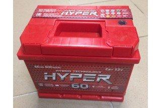 Аккумулятор Hyper 60  A/h 600A ОТ 1-го ПОСТАВЩИКА