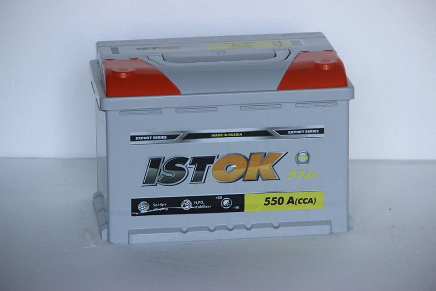 Аккумулятор ИСТОК 77  A/h 550A от 1-го ПОСТАВЩИКА