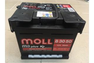 Аккумулятор Moll M3 Plus 50 A//ч 420A (EN)  ОТ 1-го ПОСТАВЩИКА