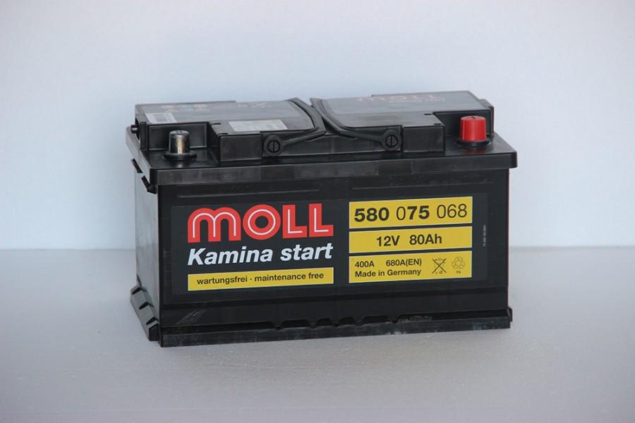 Аккумулятор Moll 80  A/h 680A ОТ 1-го ПОСТАВЩИКА