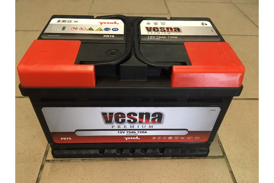 Аккумулятор VESNA Premium 75  A/h R+ 720A (EN)