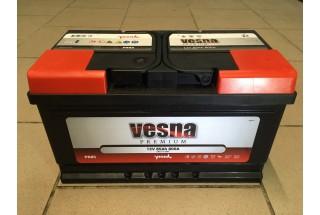 Аккумулятор VESNA Premium 85  A/h R+ 800A (EN)