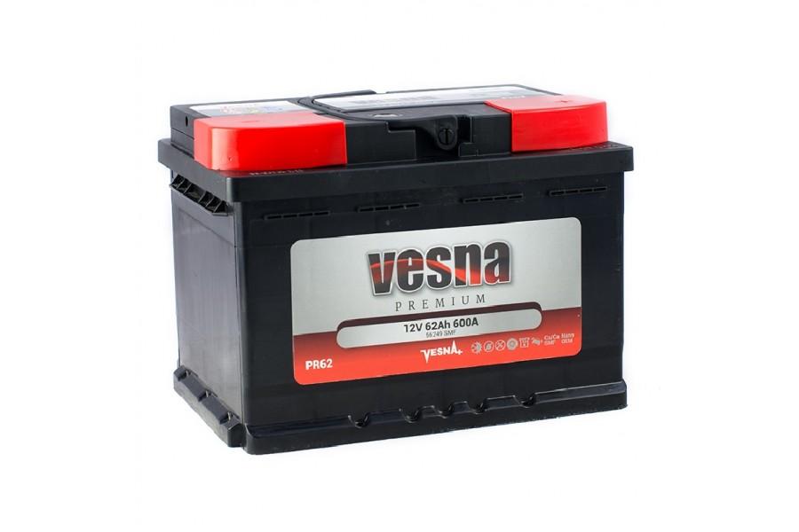 Аккумулятор VESNA Premium 62  A/h R+ 600A (EN)