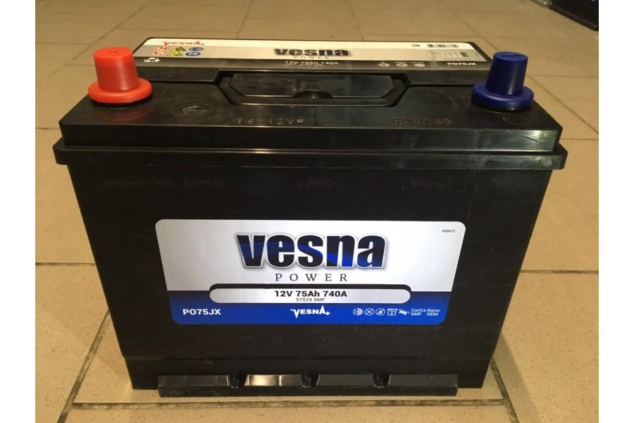 Аккумулятор VESNA AZIA 75  A/h R+ 740A (EN)