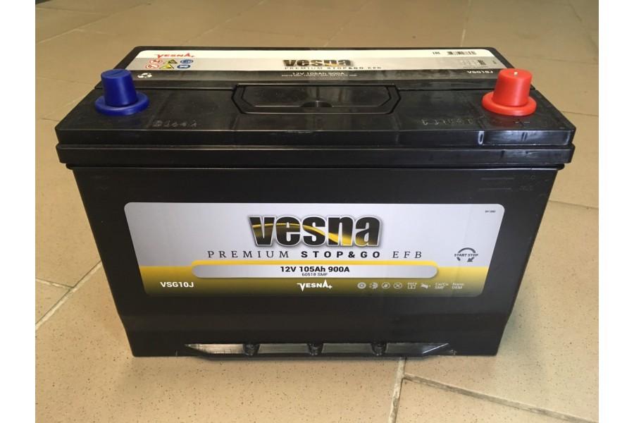 Аккумулятор VESNA EFB azia 105 a/h R+ 900A
