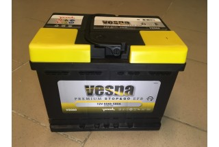 Аккумулятор VESNA EFB 60  A/h R+ 580A