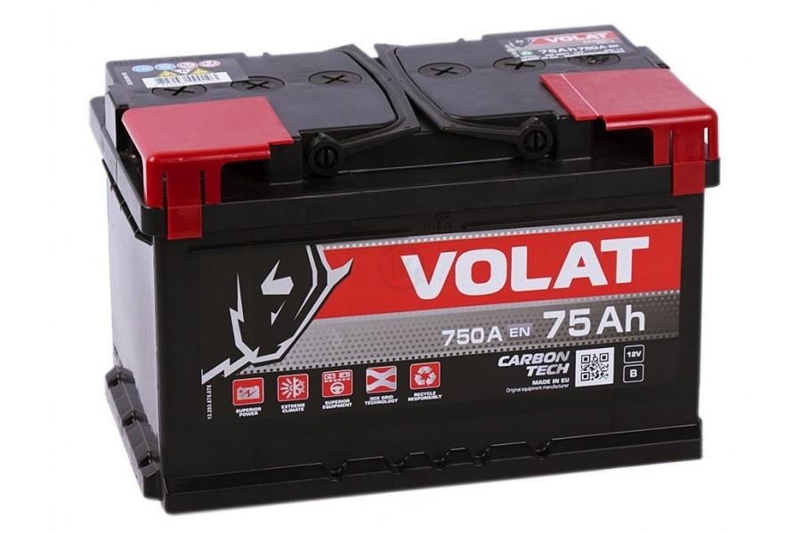 Аккумулятор VOLAT Ultra 75  A/h 750А
