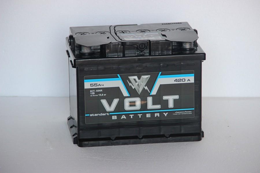 Аккумулятор Volt 55  A/h ОТ 1-го ПОСТАВЩИКА