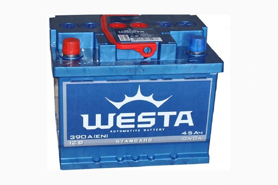 Аккумулятор Westa 45  A/h 390A e/n ОТ 1-го ПОСТАВЩИКА