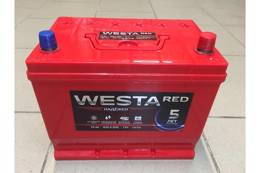 Аккумулятор Westa Asia RED 70 A/h 620A e/n ОТ 1-го ПОСТАВЩИКА