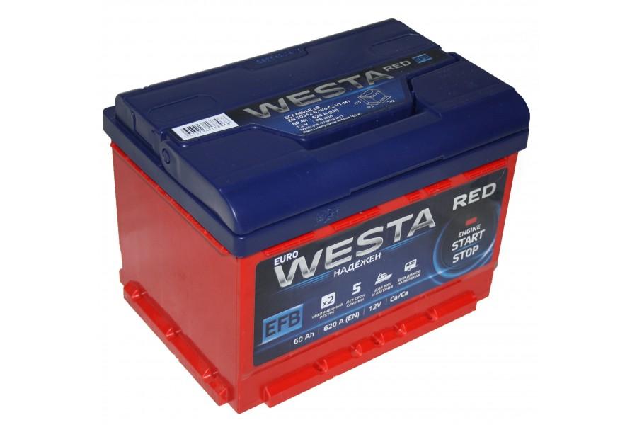 Аккумулятор Westa RED EFB 60  A/h 620A ОТ 1-го ПОСТАВЩИКА