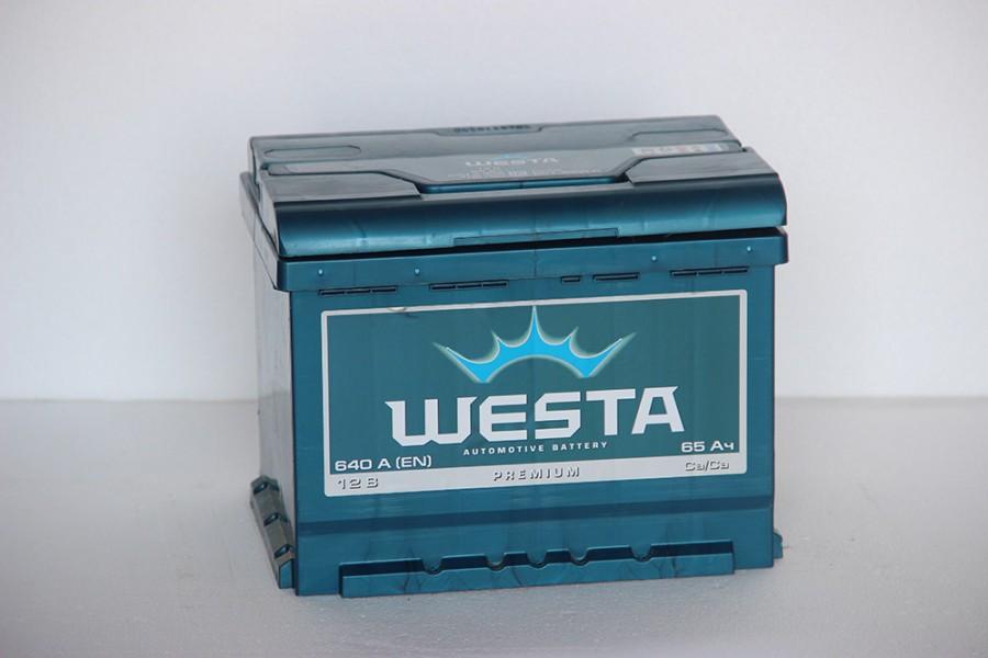 Аккумулятор Westa 65  A/h 640A ОТ 1-го ПОСТАВЩИКА
