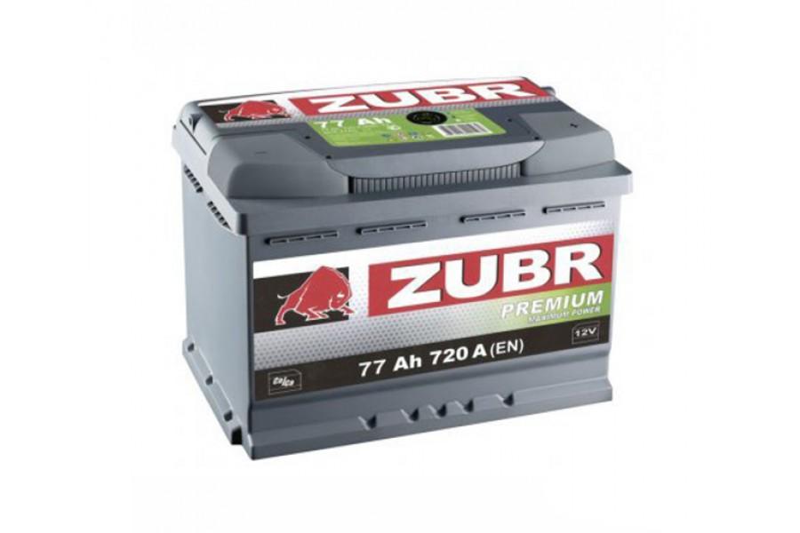 Аккумулятор Зубр Premium 77  A/h 720A L+