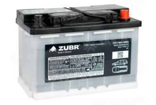 Аккумулятор Zubr Original 74  A/h 840А R+