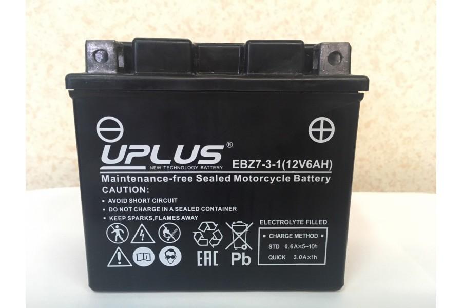 Аккумулятор UPLUS Super Star EBZ 7-3-1 (YTZ 7S) 6  A/h 12 V 6  A/h