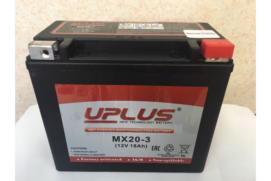 Аккумулятор UPLUS Super Star MX 20-3 (YTX 20L-BS 518901) 12 V 18Ah R+