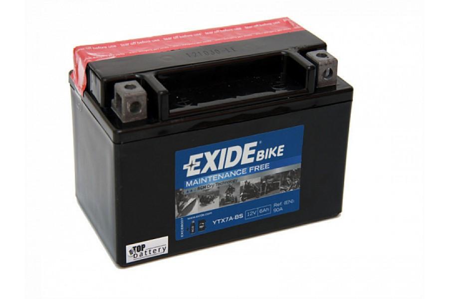 Аккумулятор Exide YTX7A-BS (6 A/h), 50А L+