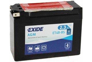 Аккумулятор Exide ET4B-BS (2,3 A/h), 35А R+