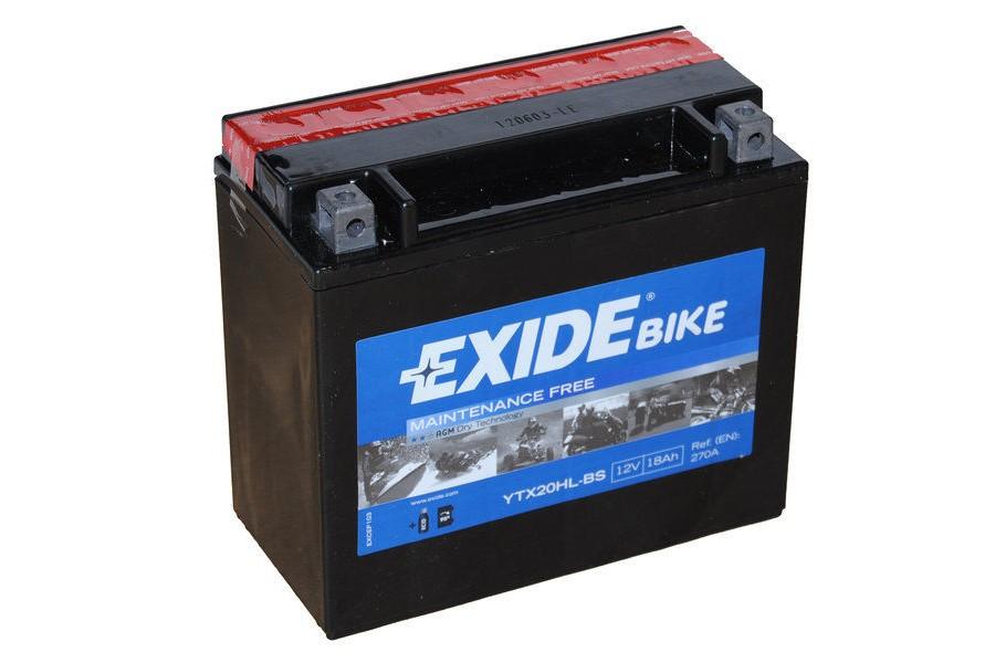 Аккумулятор Exide YTX20HL-BS (18 A/h), 270А R+