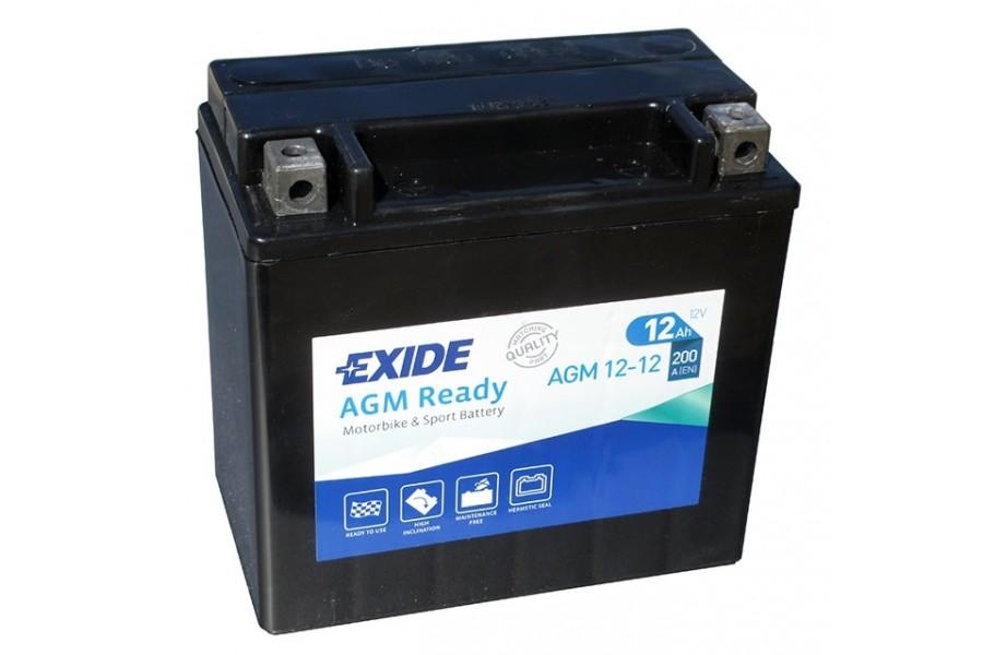 Аккумулятор Exide AGM12-12 (12 A/h), 200А L+