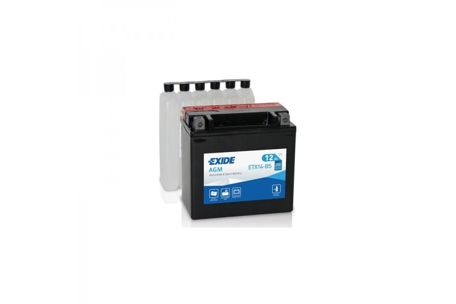Аккумулятор Exide ETX14L-BS (12A/h), 200A R+