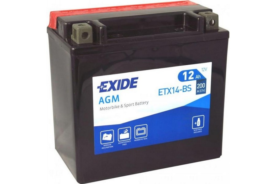 Аккумулятор Exide ETX14-BS (12 A/h), 200А L+