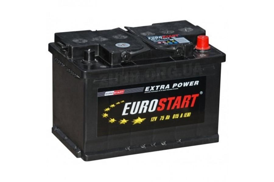 Аккумулятор Eurostart Extra Power 75  A/h 615А R+