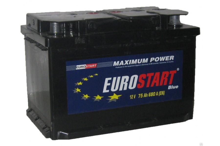 Аккумулятор Eurostart Blue 75  A/h 680А R+