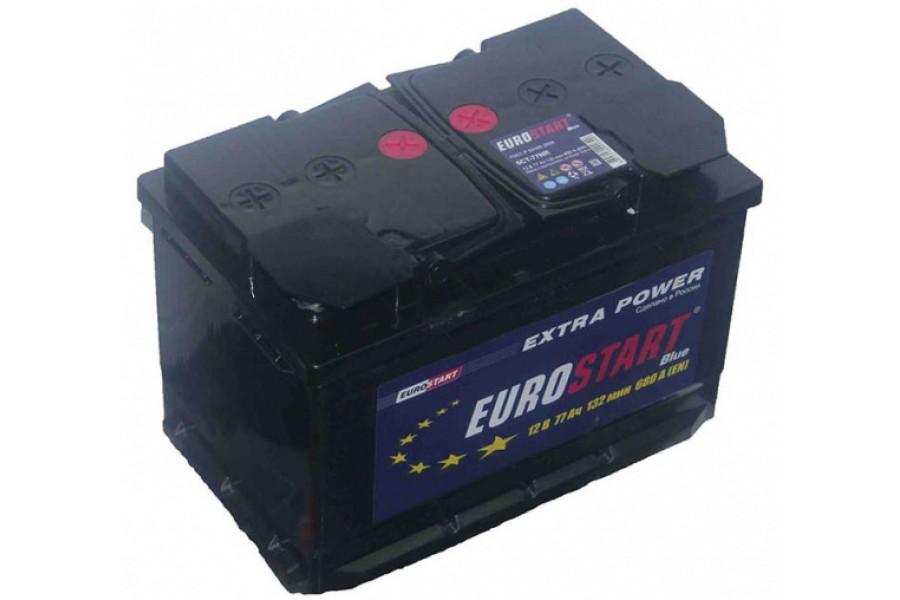 Аккумулятор Eurostart Blue 77  A/h 680А R+