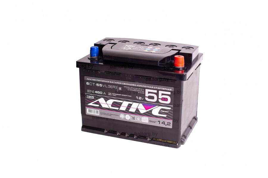 Аккумулятор АкТех Active Frost 6СТ-55 Евро