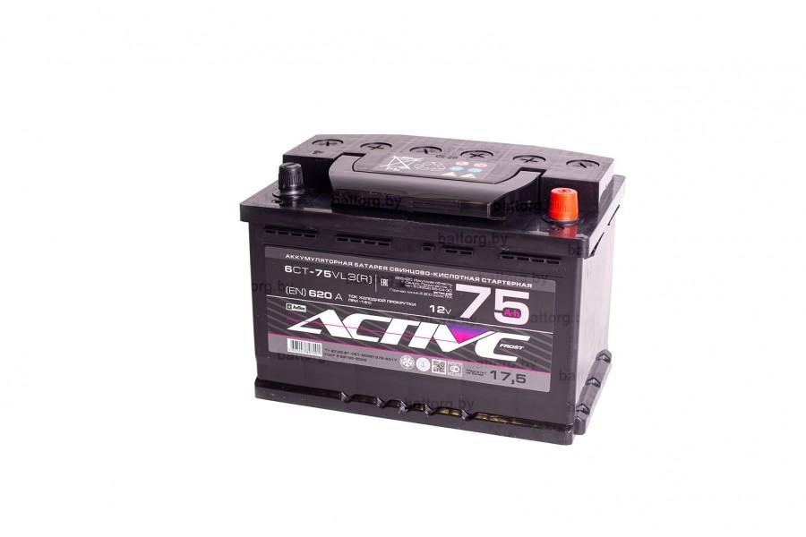 Аккумулятор АкТех Aktive Frost 6СТ-75 Евро