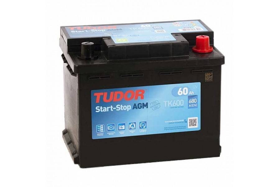 Аккумулятор TUDOR Start-Stop AGM TK600 60 A/h 680A R+
