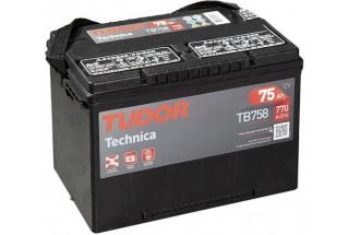 Аккумулятор Tudor Technica TB758 75  A/h 770A L+