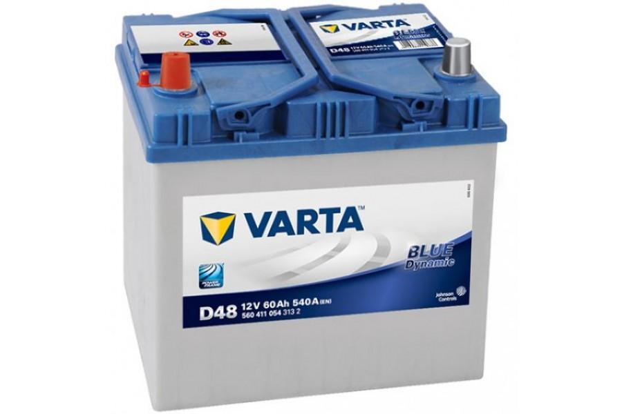 Аккумулятор Varta Blue Dyn (Asia) 560410 (60Ah) L+540A