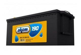Аккумулятор АКОМ 190 A/h 1000А R+