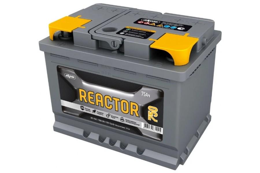 Аккумулятор Reactor 75  A/h 750A (EN)