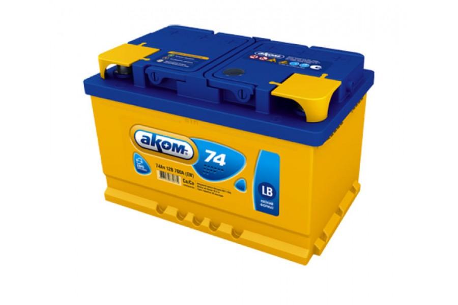 Аккумулятор Akom 74  A/h 700A (EN)