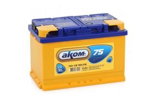 Аккумулятор Akom 75  A/h 700A (EN)